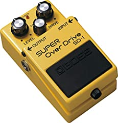 The SD-1 Super overdrive pedal produces the warm, natural distortion of an overdrive tube amplifier while maintaining the subtle nuances of a player's picking technique. This is one of BOSS' More subtle and smooth overdrive pedals, perfect fo...