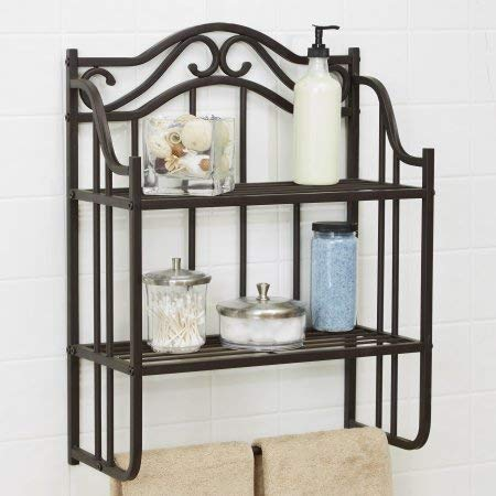 PACK OF 2 - Chapter Bathroom Storage Wall Shelf, Oil-Rubbed Bronze Finish