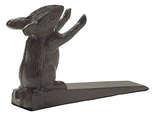 Comfify Vintage Cast Iron Mouse Door Stop Wedge by Lovely Decorative Finish, Padded Anti-Scratch Felt Bottom Protects Floors | in Rust Brown (Mouse Door Stop CA-1507-14) by Comfify