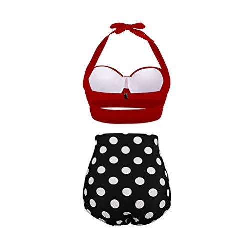TENDYCOCO Tweedelige Polka Dot Bikini Vintage Hoge Taille Bikini Sexy Strand Badpak
