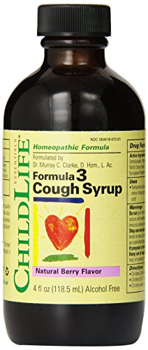 Child Life Formula 3 Cough Syrup, Natural Berry Flavor, 4 Fluid Ounce