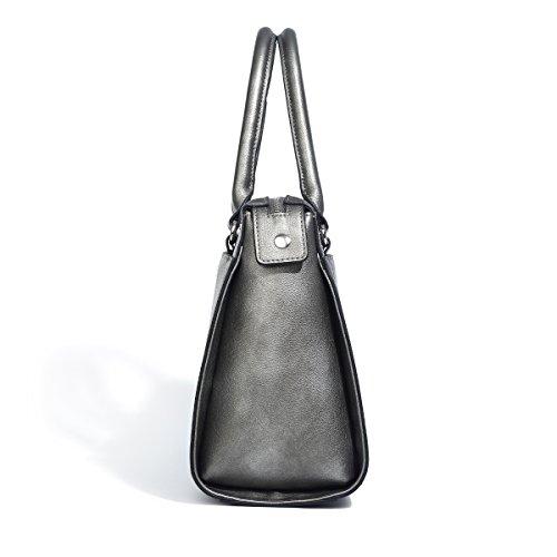 Top Ladies Light PU Brown Handbags Women Kadell for black Purse Luxury Leather Handle Nickel Shoulder Designer 8qYg7w