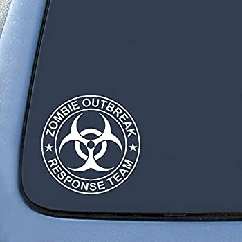 """Zombie Outbreak Response Team Sticker Decal Notebook Car Laptop 5"""" (White)"""