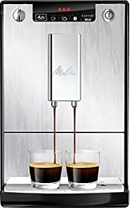 Melitta 950-111 - Cafetera automática (1.2L, 15 bar, 1400 W), con molinillo integrado, color plata