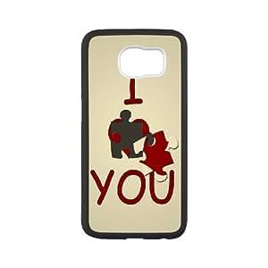 {Love Series} Samsung Galaxy S6 Case i Love You 1, Case Dustin - White