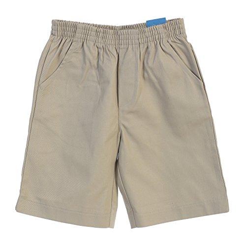 (unik Boys All Elastic Waist Pull up Shorts Khaki Size 8)