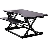 LAZYMOON Ergonomic 32 Adjustable Height Stand Up Desk Computer Workstation Lift Rising Laptop