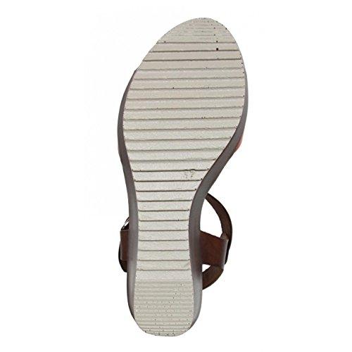 Zapatos de cuña de Mujer CUMBIA 30131 ROJO-NUEZ