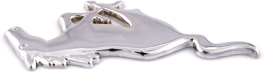 Silver 2x Running Horse Emblem Metal Small Size Pony Fender Badge Replacement For Mustang GT Nameplate Decorative