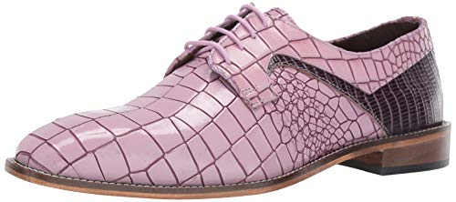 STACY ADAMS Men's Triolo Croc Lizard Print Lace-Up Oxford, Lavender Multi 10.5 M US