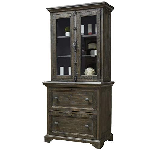 Magnussen Bellamy 2 Drawer Lateral File with Hutch in Peppercorn