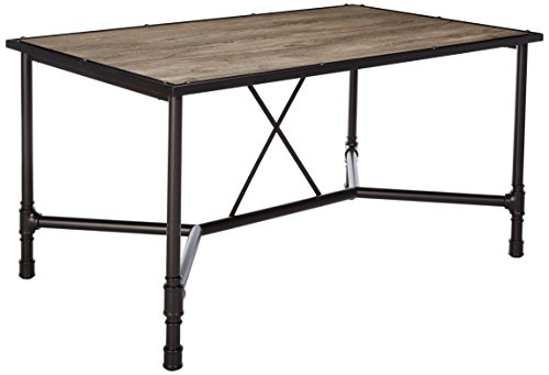 Acme Furniture 72035 Caitlin Dining Table, Rustic Oak Black