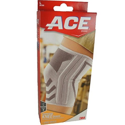 ACE Compression Knee Brace With Side Stabilizers Large 1 Each