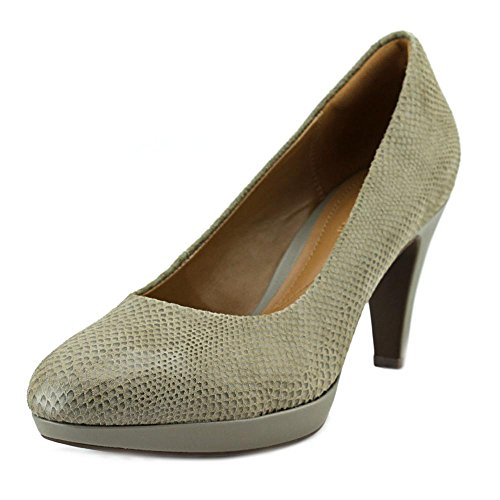 Clarks Women's Brier Dolly,Sage Snake Print Suede Leather,US 8 W