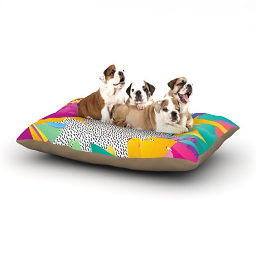 Large 30\ Kess InHouse Danny Ivan Alothea  Dog Bed, 50 by 60-Inch, bluee Pink