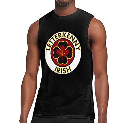 BFBG5f-Tee Men's Letterkenny-Irish Muscle Tank Top Gym Bodybuilding Sleeveless Shirts Black
