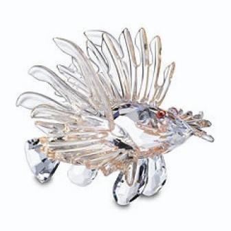 Swarovski Lion Fish 604011 Retired - Crystal Fish Figurine