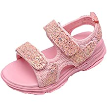 TIANRUN Baby Toddler Girls Summer Sport Sandals Shoes for 1-6 Years Old Kids Mesh Bling Sequins Casual Sneakers