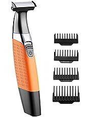 Cocoda Rasierer Elektrisch Nass/Trocken Haarschneidemaschine Bartschneider USB Wiederaufladbar Kabellos, Hybrid Präzisionstrimmer Körperhaartrimmer mit 4 Aufsatzkämmen Reinigungsbürste