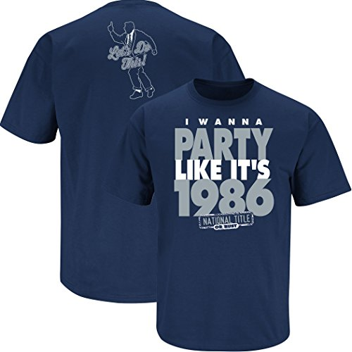 Nalie Sports Penn State Football Fans. I Wanna Party Like It's 1986. Navy T-Shirt (Sm-5X) (X-Large)