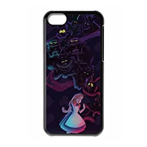 FOR Iphone 5c -(DXJ PHONE CASE)-Cheshire Cat - Alice in Wonderland-PATTERN 11