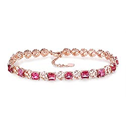 Rose Gold Tourmaline Diamond Bracelet
