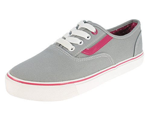 Beppi Women's Lace Canvas Trainers in Grey Grey - Grey 0dhSce