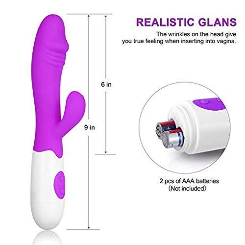 Portable 30-Speed Vibrating Silicone Waterproof G-Sp/ót V/íbr/át/ór Dual Vibration Home Personal Fitness Massage