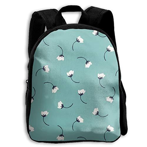 (Flowers Tumbling Flowers In Teal School Backpacks For Kids 13