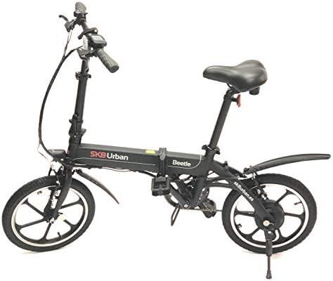 SK8 eBike Urban Beetle Bicicleta eléctrica plegable, Negro: Amazon.es: Deportes y aire libre