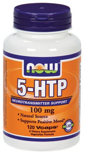 NOW Foods 5-HTP 100mg, 360 Vcaps Pack (9b0u45) Now-si