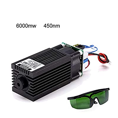 6W Laser Head Blue Light Module 6000mw Laser Module 450nm For DIY Engraver Print Cutting Machine