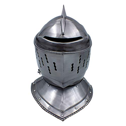 RED DEER Medeival Jousting Knight Helmet Original with Functioning Visor