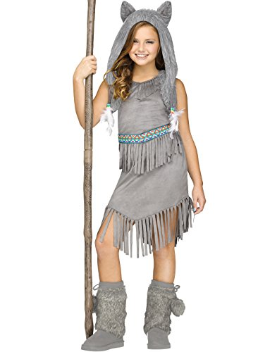 Wolf Dancer Native American Indian Kids (Wolf Girls Costume)