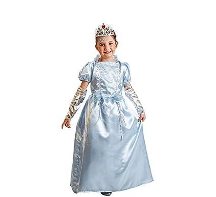 El Rey del Carnaval Disfraz Princesa Azul 8/10 AÑOS: Amazon.es ...