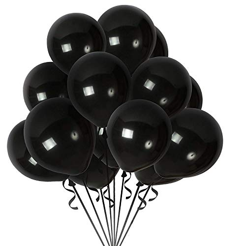 Black Balloons 100 Pcs 12 inch Latex Balloons Halloween Wedding Decoration Birthday Party Supplies Balloons