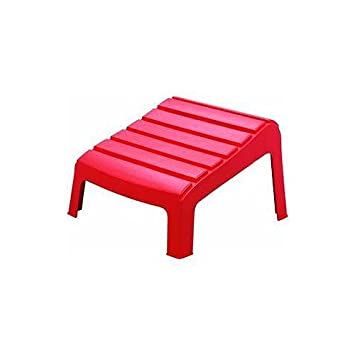 Adams 8380-26-3731 Adirondack Ottoman, Cherry Red