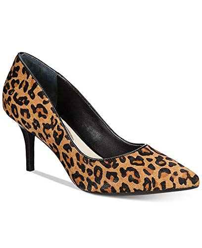 Alfani Womens Jeules Leather Pointed Toe Classic, Natural Leopard, Size 7.5
