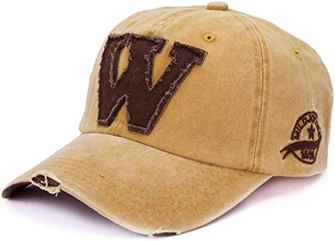 DoraMe Berretto Mimetico da Uomo e da Donna Estivi Le Lettere W Fanno Il Vecchio Cappello iFRich Cappellini con Visiera da Baseball Hip-Hop Unisex