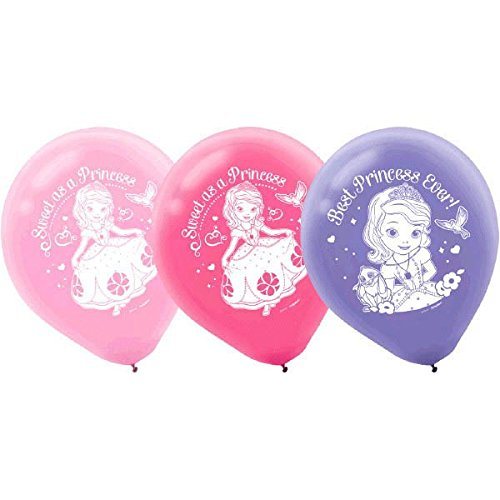 "(Amscan 111351 Disney Sofia Printed Princess Birthday Latex Balloons Decoration Party Supplies 12"")"