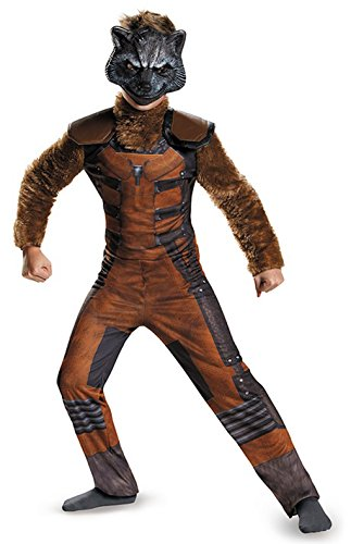 Deluxe Rocket Raccoon Kids Costumes (Guardians of the Galaxy Rocket Raccoon Deluxe Child Costume (Medium))