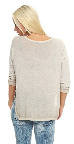 IKONA21 - Fashion Italy Damen Shirt Bluse Tunika Longshirt Onesize S M L XL 36 38 40 42 44 500 399
