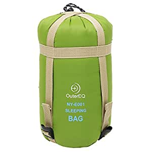 OuterEQ Sleeping Bags Camping Hiking Sleeping Bag Army Green