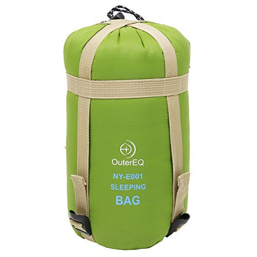 OuterEQ Camping Sleeping Bags Hiking Sleeping Bag With Compression Sack