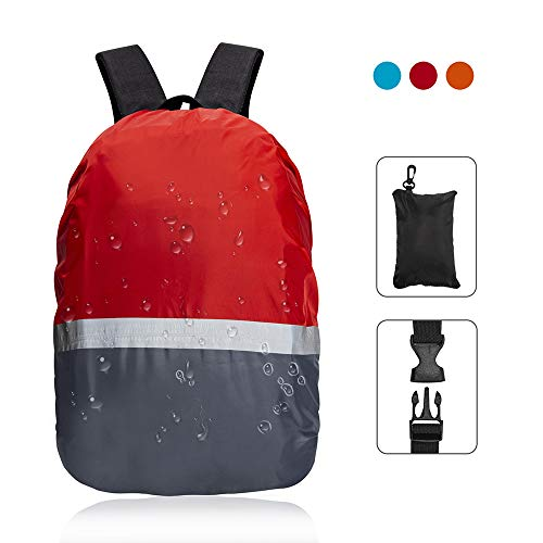 - TITE Backpack Rain Cover Waterproof Covers with Reflective Strap Vertical Adjustable Buckle Fashion for Hiking Camping Outdoor Traveling Activities Climbing Cycling Gift (Red, XL)