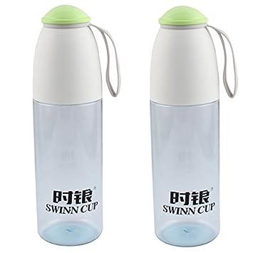 eDealMax plástico Inicio colador de té Deporte Botella de agua Potable Taza de la Taza de