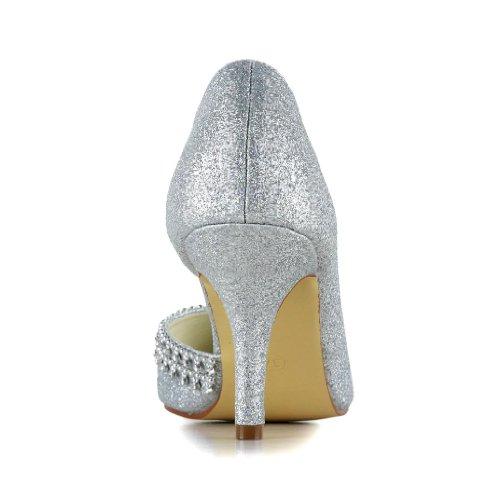 Jia Jia Wedding 8390B5 Hochzeitsschuhe Brautschuhe Damen Pumps Silber