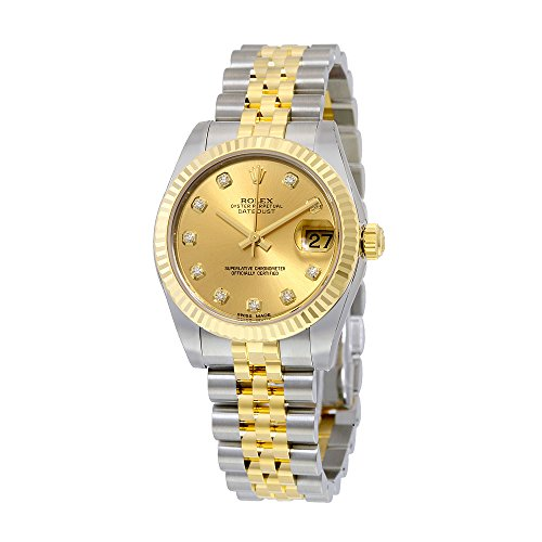 Rolex Datejust Lady 31 Champagne Dial Stainless Steel and 18K Yellow Gold Rolex Jubilee Automatic Watch 178273CDJ