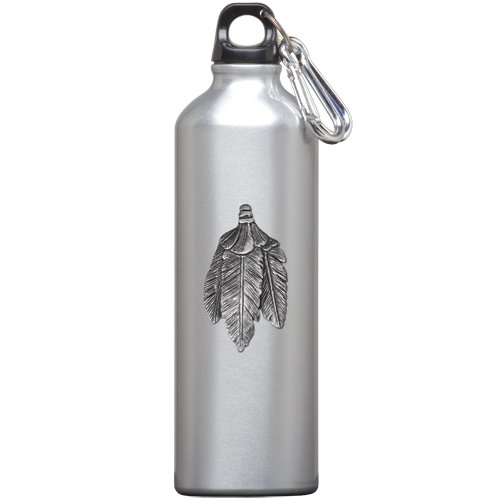 1pc, Pewter Feathers Water Bottle (Feather Pewter Pendant)