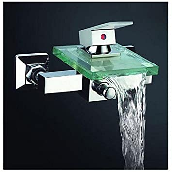 ZLL Robinet de baignoire contemporaine cascade avec bec verseur ...